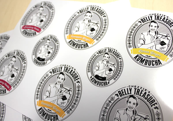 Vinyl Labels - Belly Treasure