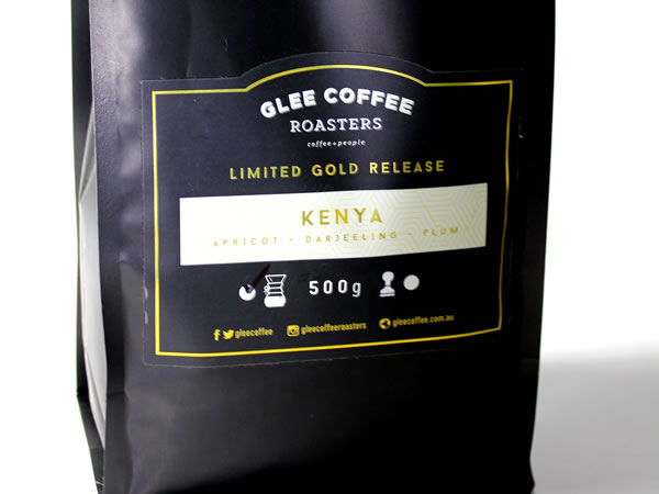 Coffee Labels - Glee Coffee Roasters - Kenya