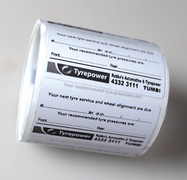 Double Sided Labels - Tyrepower Tumbi