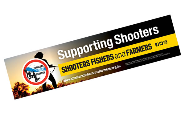 Event Labels - Shooters, Fishers & Farmers