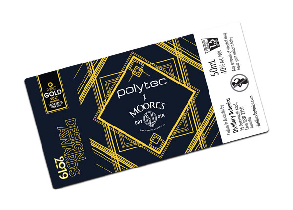 Gin Labels - Polytec Moore's