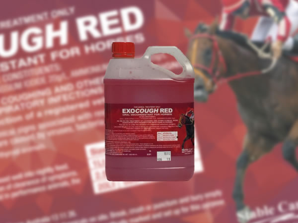 Pet Product Labels - Exocough Red