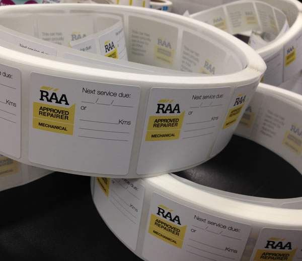 Thermal Labels - RAA Approved Repairer