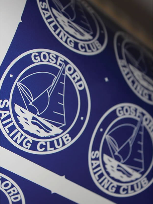 UV Stable Labels - Gosford Sailing Club