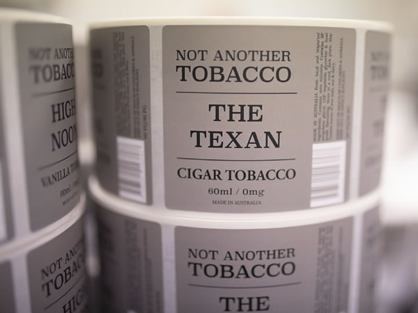 Vape Labels Not Another Tobacco - The Texan