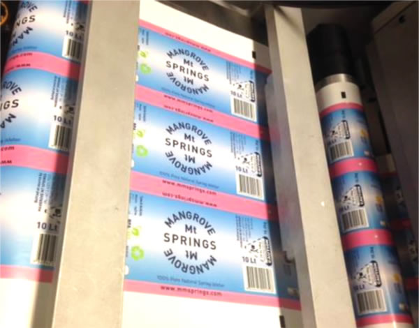 Water Bottle Labels - Mangrove Mountain Spring