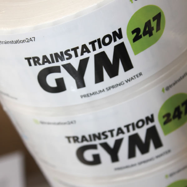 Water Bottle Labels - Trainstation Gym