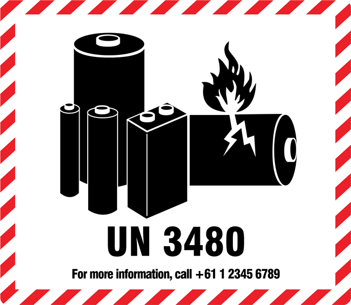 photograph regarding Printable Lithium Ion Battery Label identified as Expert Labels Packaging Lithium Battery Warning Labels