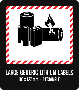 Sassy image for printable lithium ion battery label